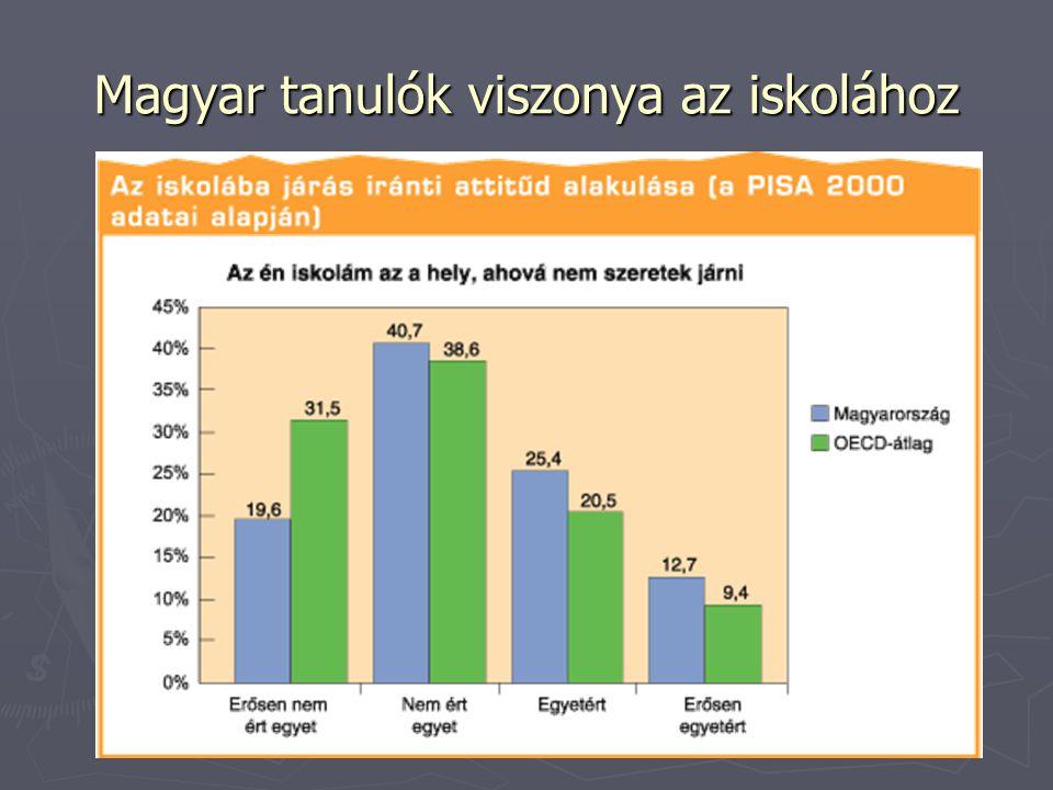 Magyar tanulók viszonya az iskolához