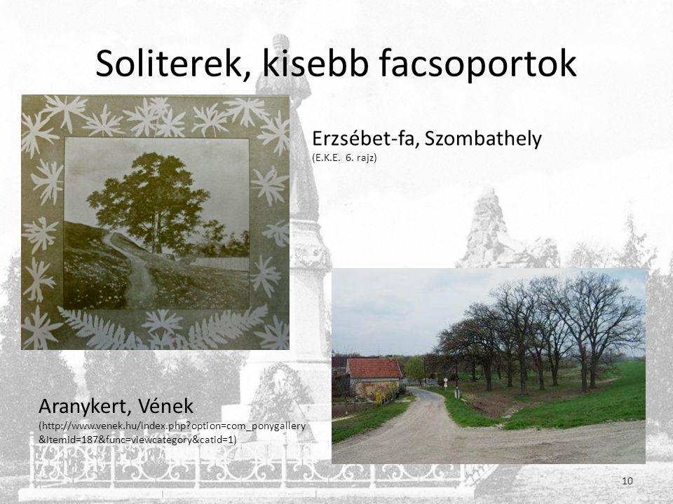 Soliterek, kisebb facsoportok Erzsébet-fa, Szombathely (E.K.E.