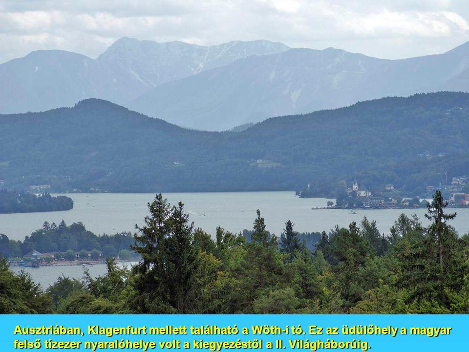 Ausztriában, Klagenfurt mellett található a Wöth-i tó.