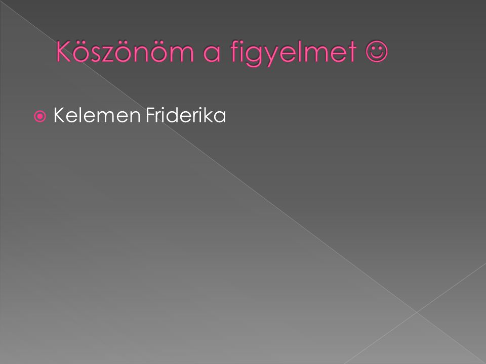  Kelemen Friderika