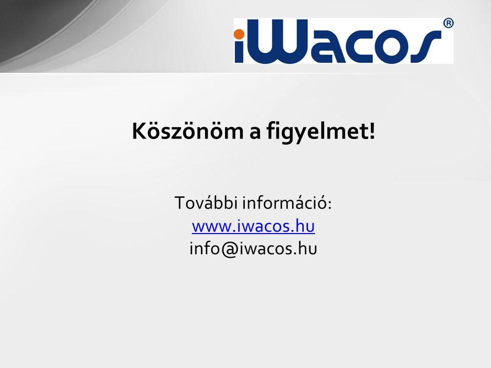 Köszönöm a figyelmet! További információ: www.iwacos.hu info@iwacos.hu