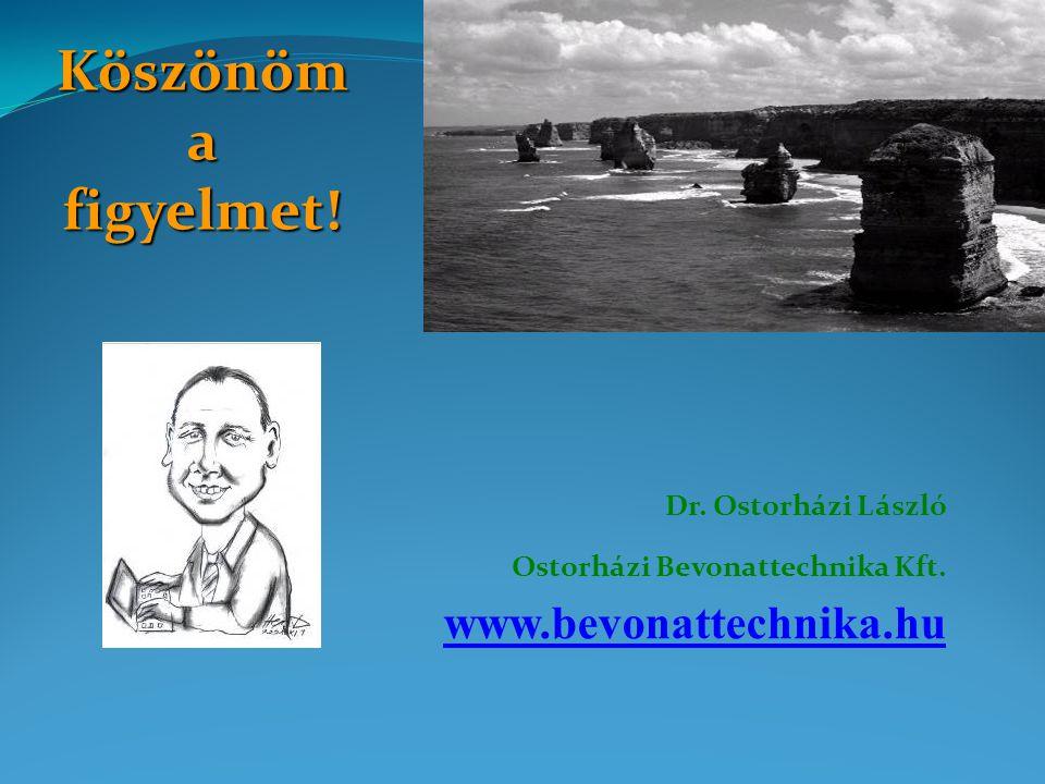 Köszönöm a figyelmet! Dr. Ostorházi László Ostorházi Bevonattechnika Kft. www.bevonattechnika.hu