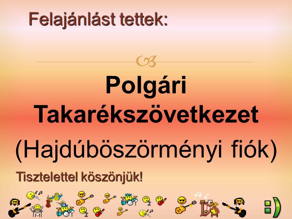 Felajánlást tettek: Tisztelettel köszönjük!  Szabó Csenge (2.a) szülei