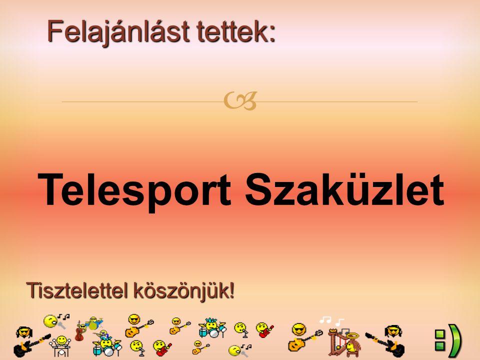 Felajánlást tettek: Tisztelettel köszönjük!  Molnár Balázs (3.b) szülei