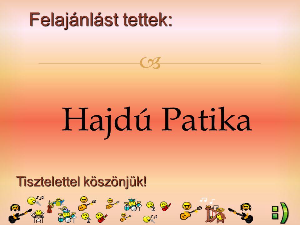 Felajánlást tettek: Tisztelettel köszönjük!  Hajdú Patika