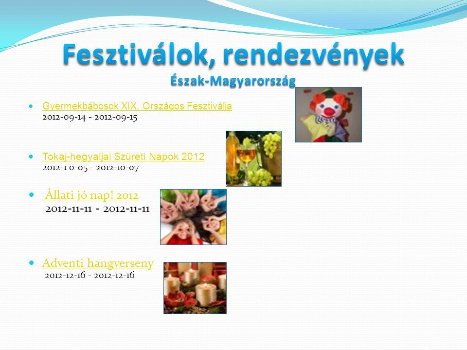  Gyermekbábosok XIX. Országos Fesztiválja 2012-09-14 - 2012-09-15 Gyermekbábosok XIX. Országos Fesztiválja  Tokaj-hegyaljai Szüreti Napok 2012 2012-