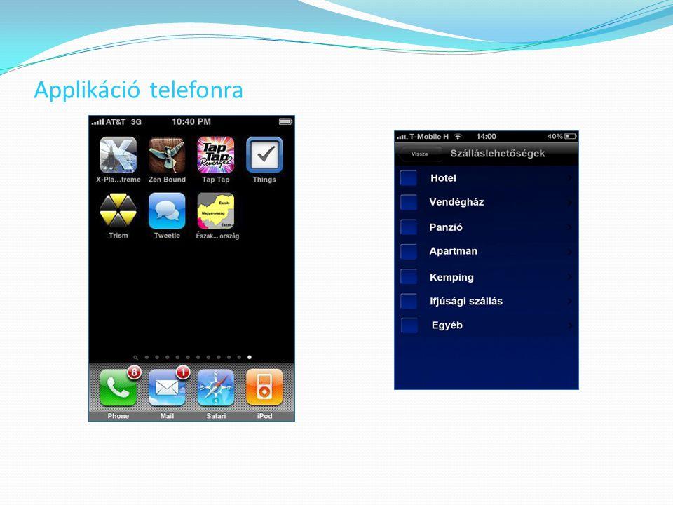 Applikáció telefonra