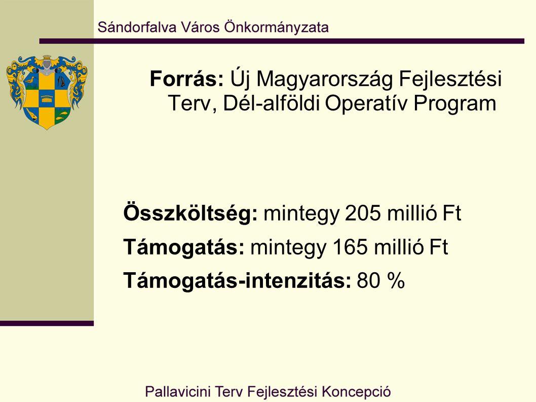 Forrás: Új Magyarország Fejlesztési Terv, Dél-alföldi Operatív Program Összköltség: mintegy 205 millió Ft Támogatás: mintegy 165 millió Ft Támogatás-i