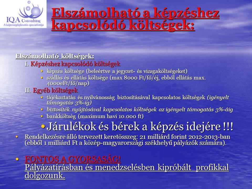Támogatás 1. Mikro és kisvállalkozásoknak Max 10 millió Ft / pályázat 100%-os támogatással, 300 millió Ft-os keretből Közép Magyarországon ( Bp és Pes
