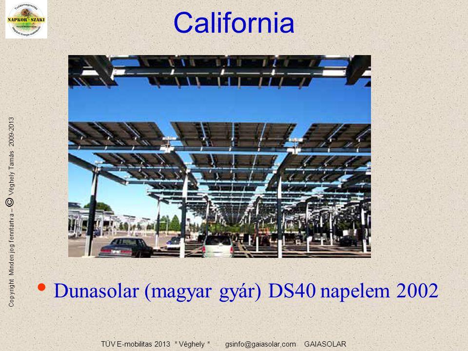 TÜV E-mobilitas 2013 * Véghely * gsinfo@gaiasolar,com GAIASOLAR Copyright Minden jog fenntartva – © Véghely Tamás 2009-2013 Új parkolók
