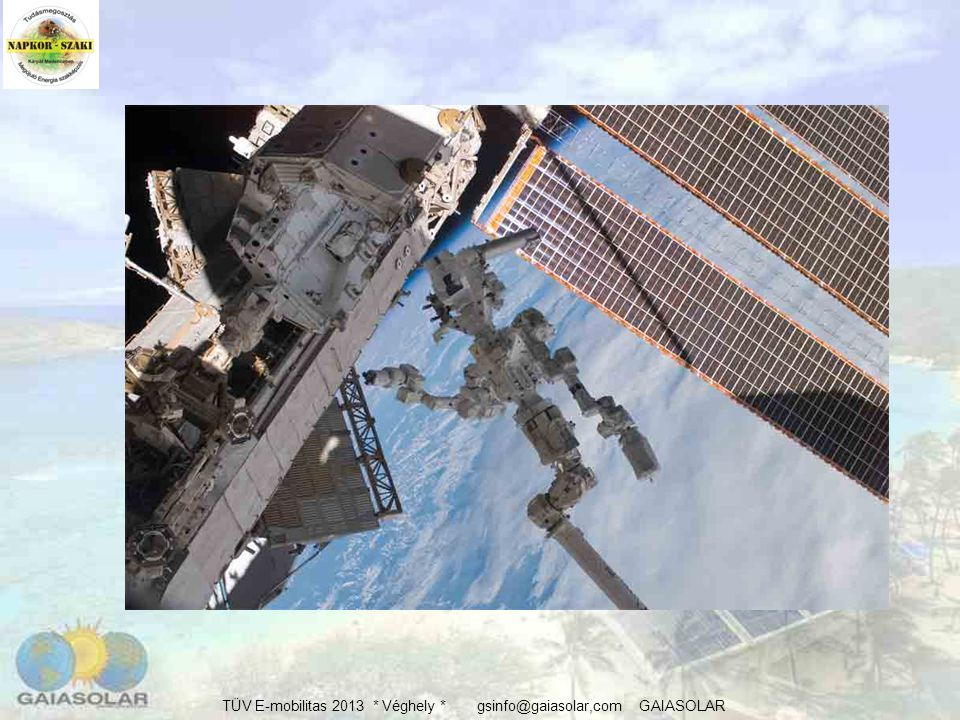 Műhold / űrállomás, energia ellátás