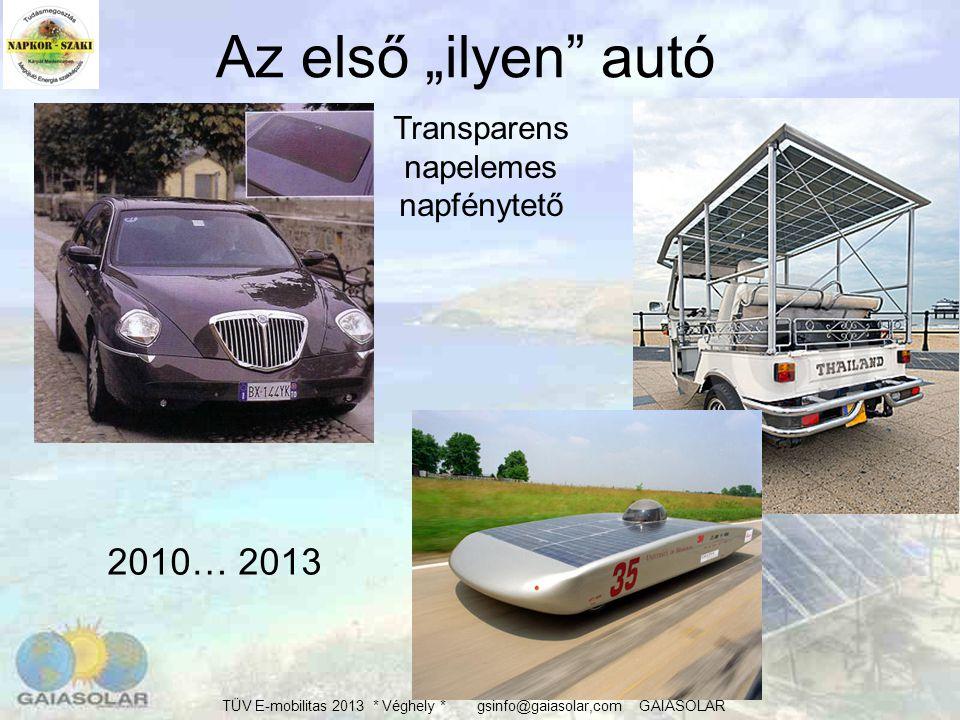 TÜV E-mobilitas 2013 * Véghely * gsinfo@gaiasolar,com GAIASOLAR SOLAR HŰTŐAUTÓ 43/63