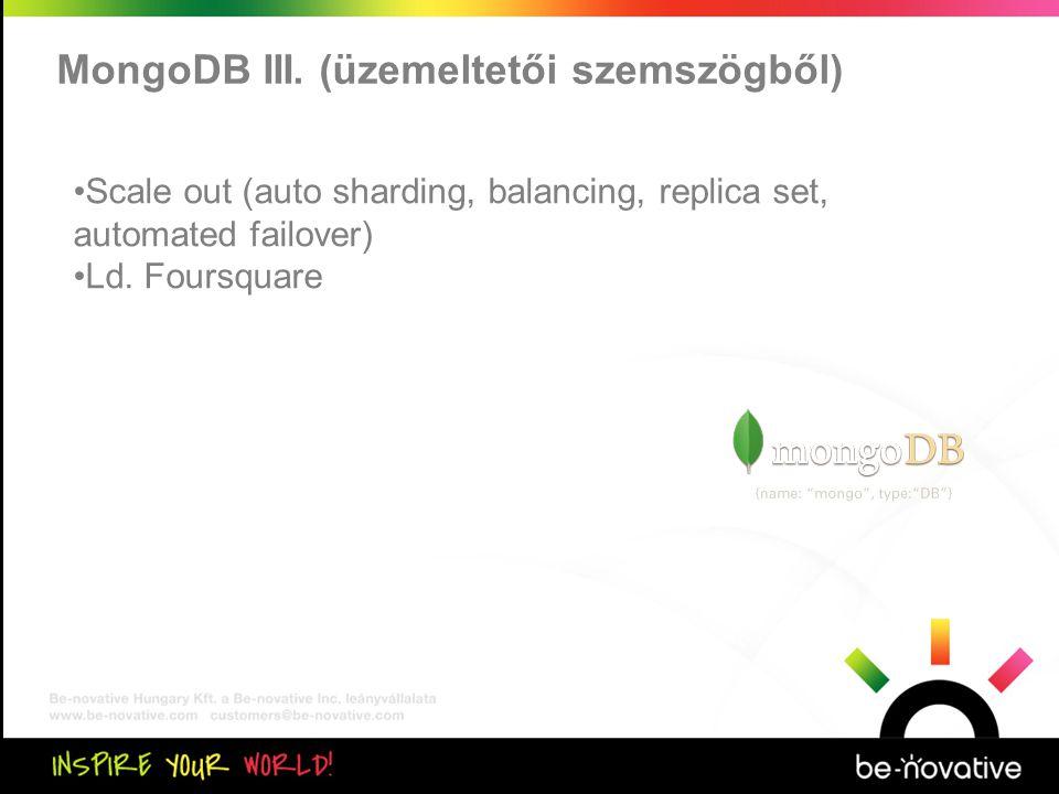 Közös kiértékelés MongoDB III.