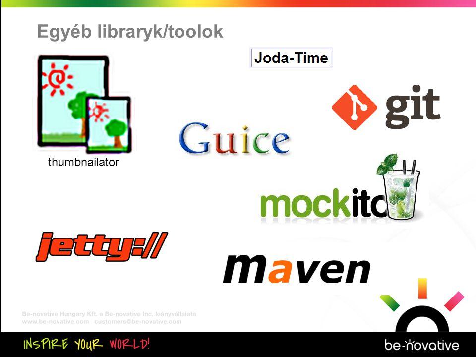 Közös kiértékelés Egyéb libraryk/toolok thumbnailator