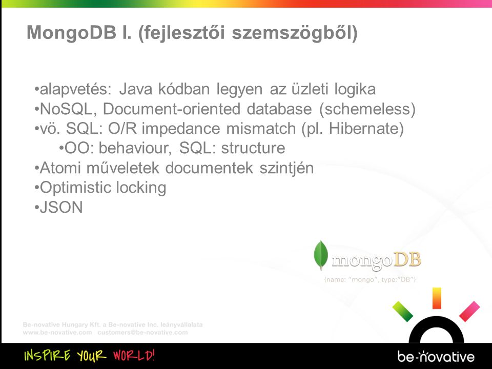 Közös kiértékelés MongoDB I.