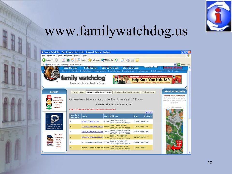 10 www.familywatchdog.us