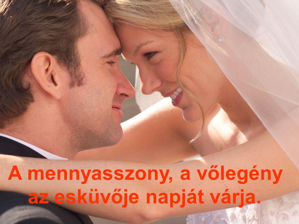 A mennyasszony, a vőlegény az esküvője napját várja.