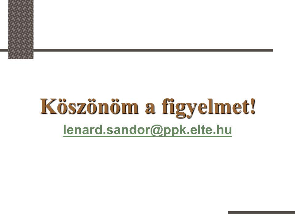 Köszönöm a figyelmet! lenard.sandor@ppk.elte.hu