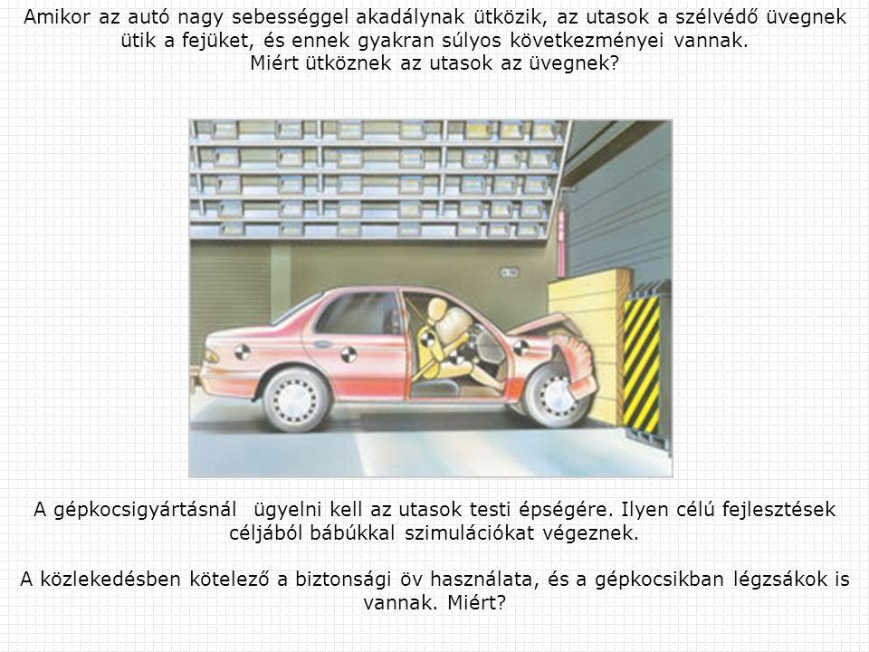 Amikor az autó nagy sebességgel akadálynak ütközik, az utasok a szélvédő üvegnek ütik a fejüket, és ennek gyakran súlyos következményei vannak. Miért