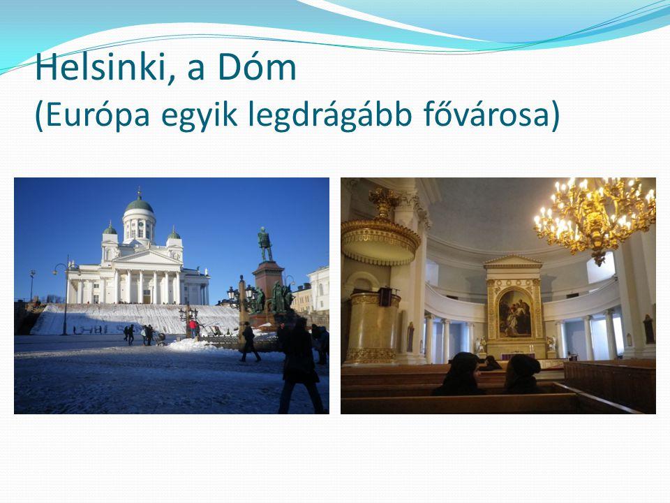 Helsinki, a Dóm (Európa egyik legdrágább fővárosa)