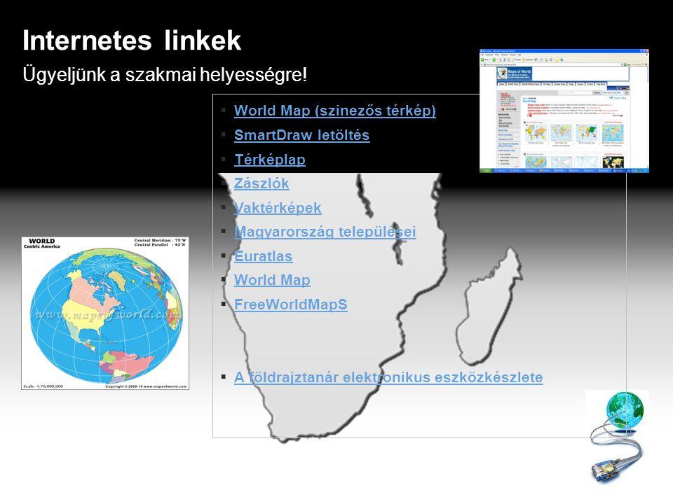 Megadott fogalmat kell magyarázni Fogalom meghatározás Méretarány Szintvonal Keresőhálózat Színfokozatos ábrázolás Térkép Jelkulcs Vonalas aránymérték Tematikus térkép Atlasz