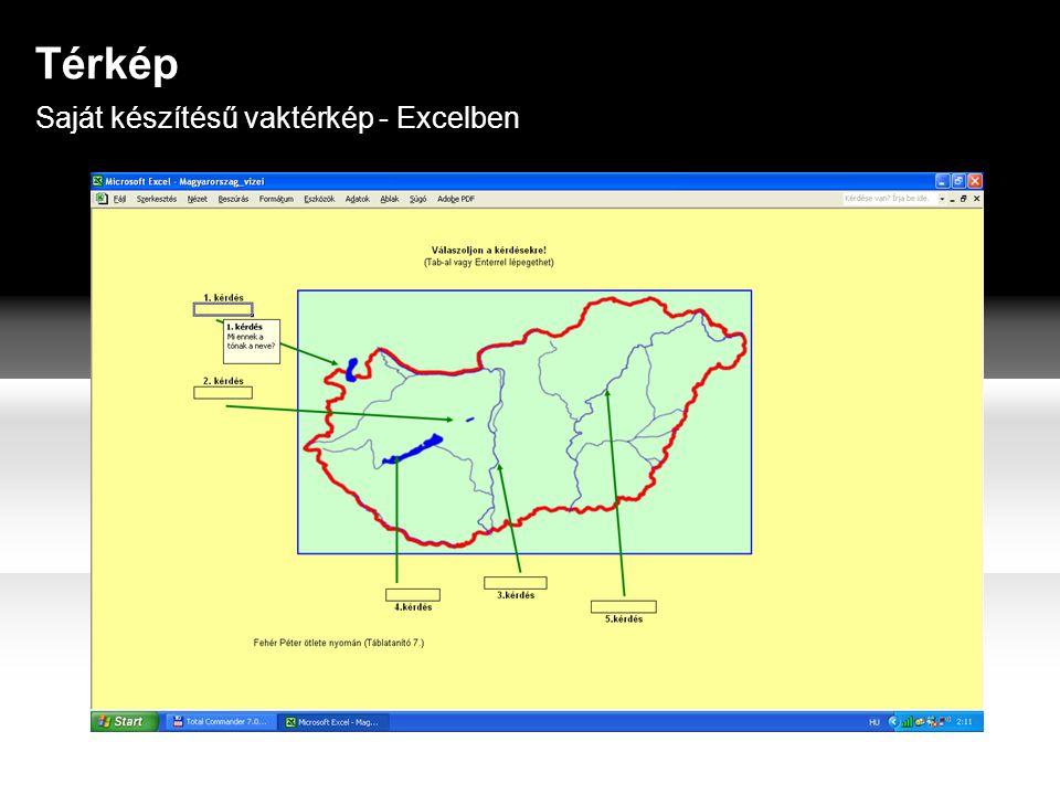 Saját készítésű vaktérkép - Excelben Térkép