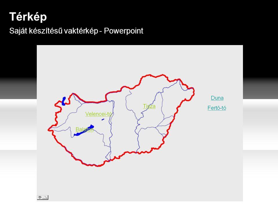 Saját készítésű vaktérkép - Powerpoint Térkép