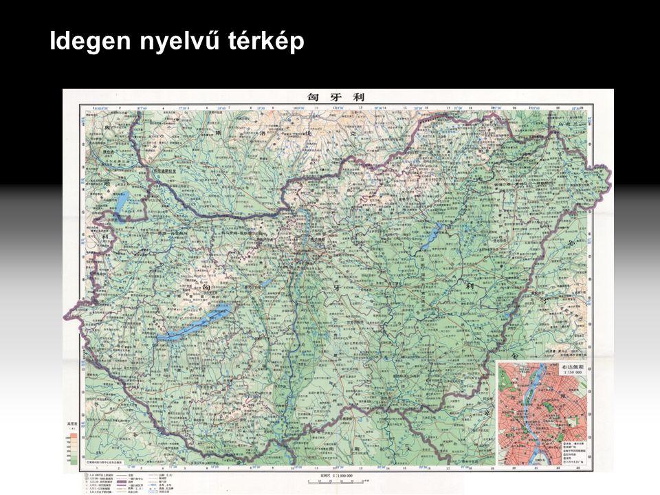 Idegen nyelvű térkép