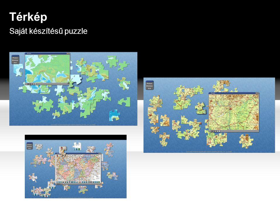 Saját készítésű puzzle Térkép
