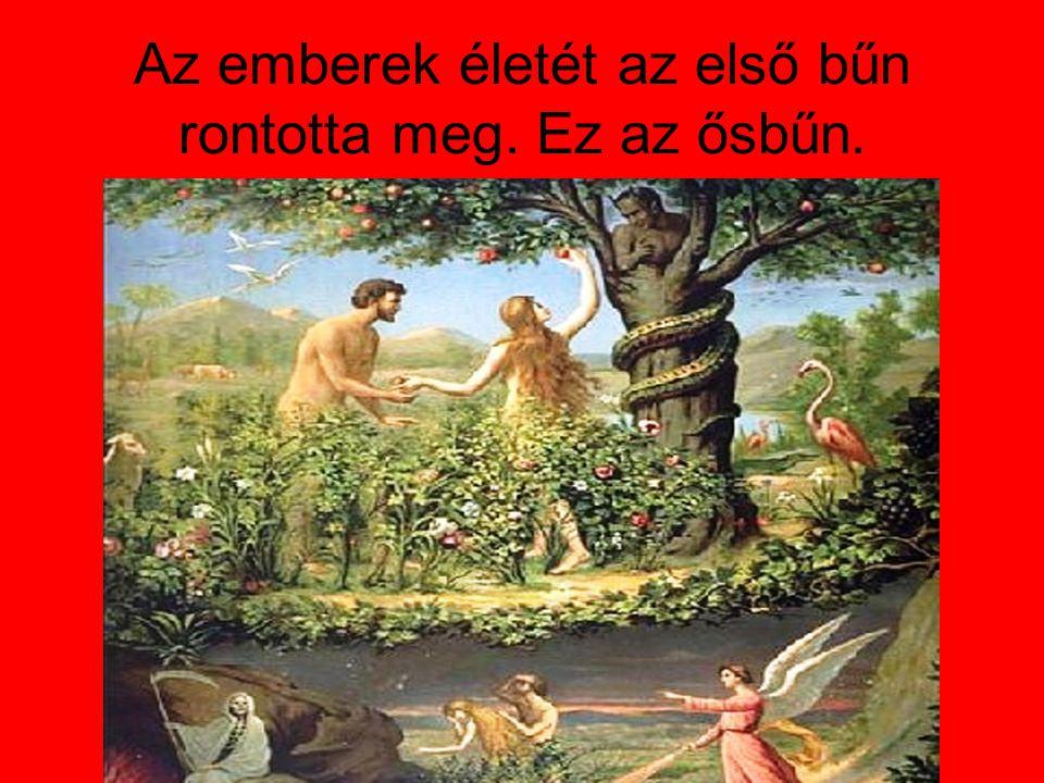 Az emberek életét az első bűn rontotta meg. Ez az ősbűn.