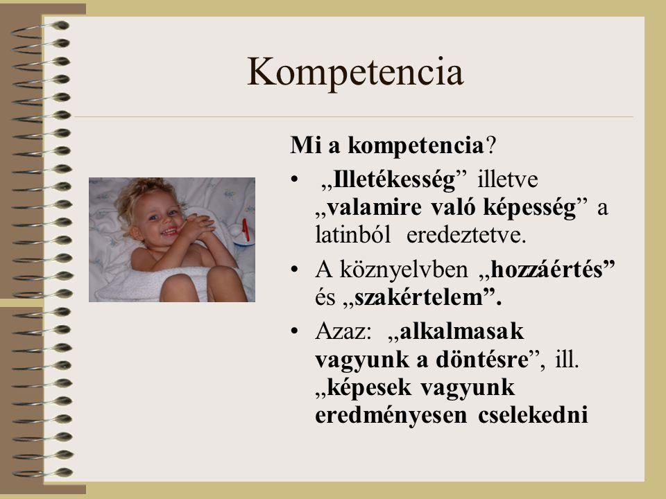 Személyes képességek •önkiszolgálási képesség (testi képességek, önellátási képesség, befogadóképesség, önkifejezési képesség), •szuverenitás képessége, •önreflektív képességek (önértékelő, önmegismerő, önfejlesztő képességek)