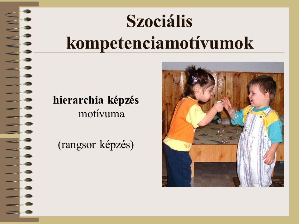 Szociális kompetenciamotívumok valakihez tartozás motívuma (anyához, családhoz, csoporthoz, néphez)