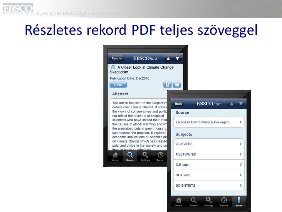 Részletes rekord PDF teljes szöveggel