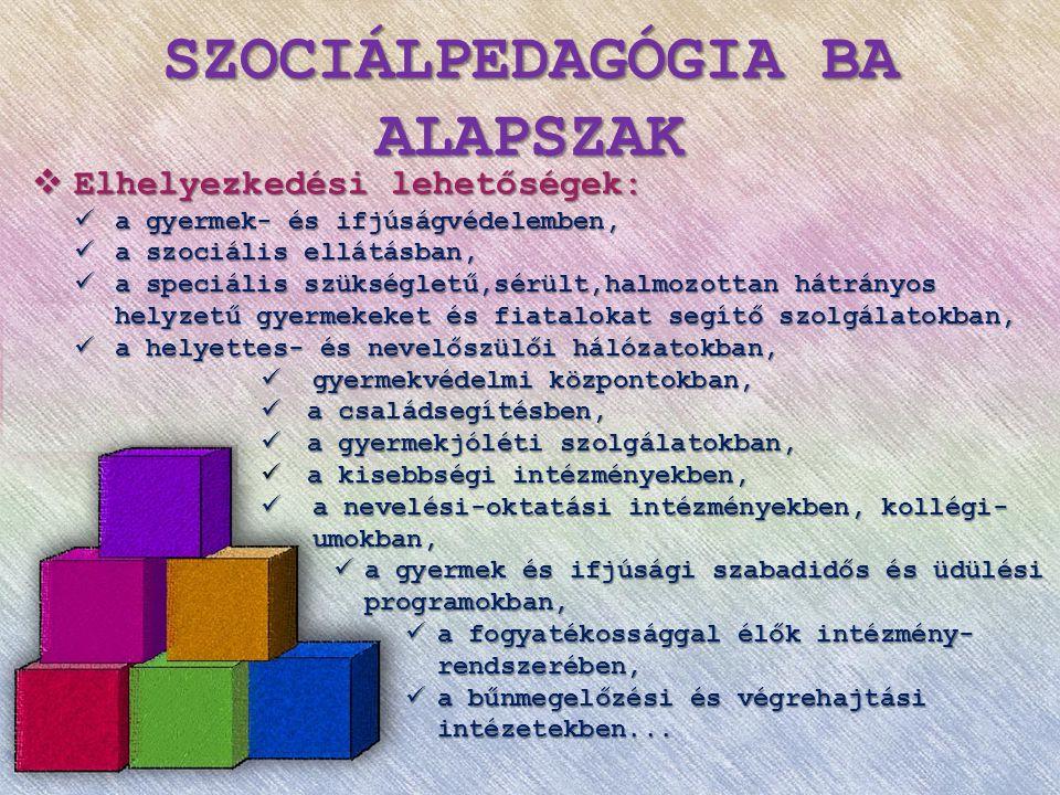 Sok szeretettel várunk mindenkit a Szociálpedagógia Intézeti Tanszék képzéseire!