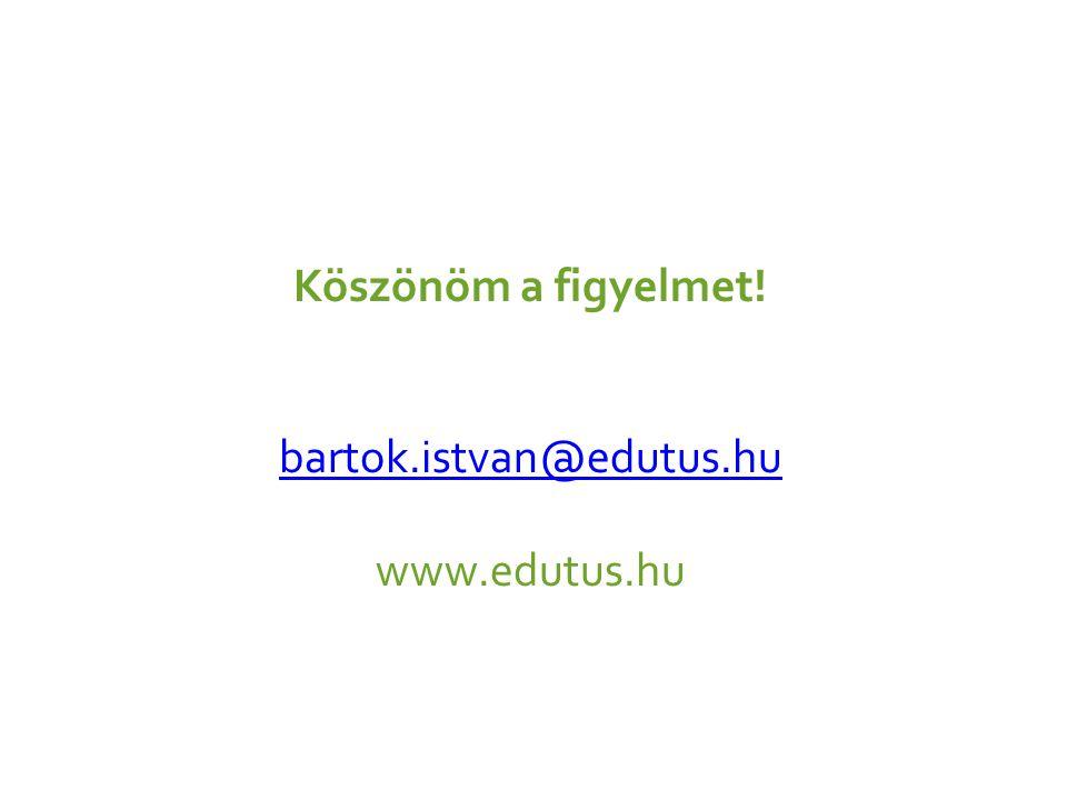 Köszönöm a figyelmet! bartok.istvan@edutus.hu www.edutus.hu