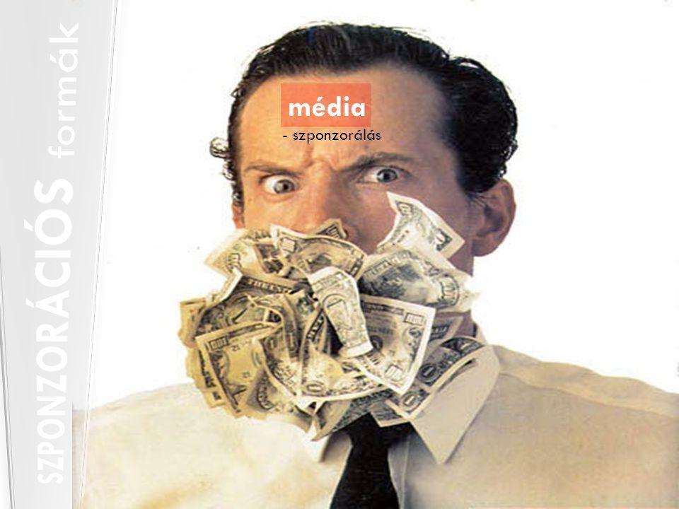 - szponzorálás média