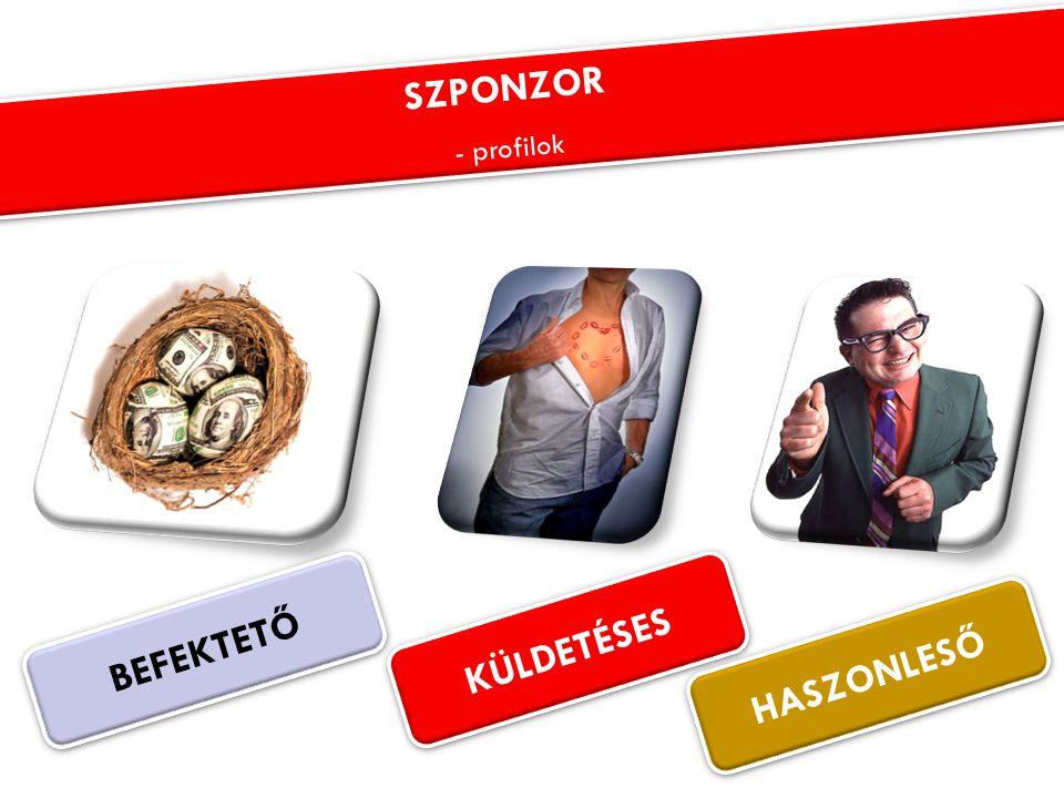 BEFEKTETŐ KÜLDETÉSES HASZONLESŐ SZPONZOR - profilok SZPONZOR - profilok