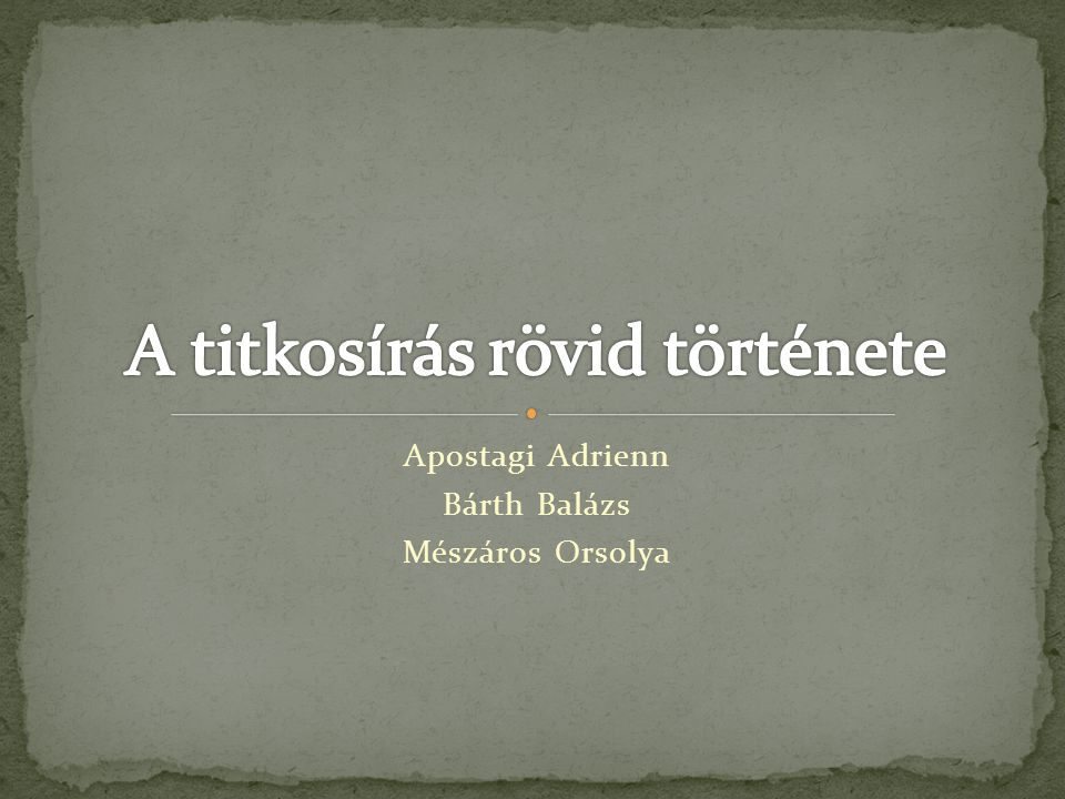 Apostagi Adrienn Bárth Balázs Mészáros Orsolya