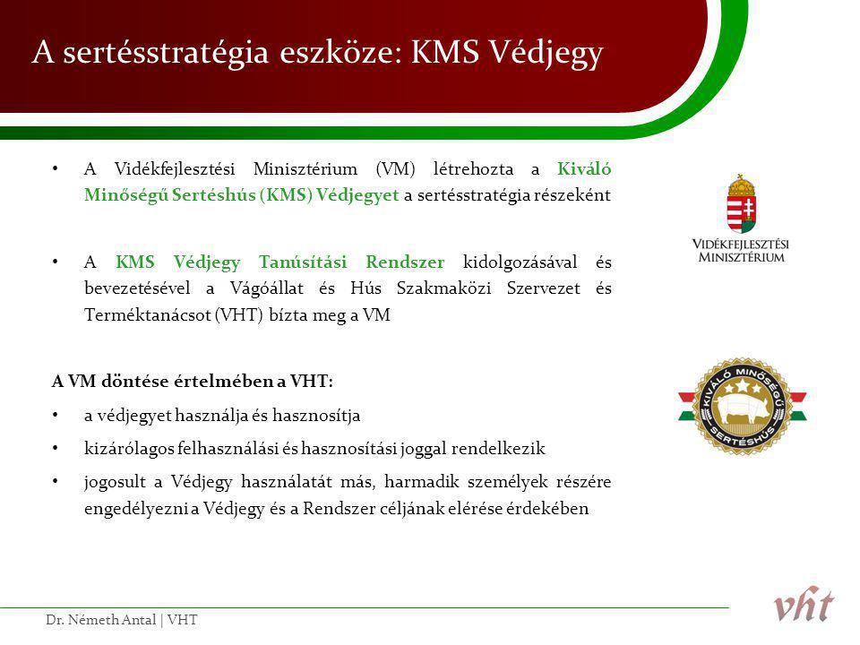 A sertésstratégia eszköze: KMS Védjegy • A Vidékfejlesztési Minisztérium (VM) létrehozta a Kiváló Minőségű Sertéshús (KMS) Védjegyet a sertésstratégia