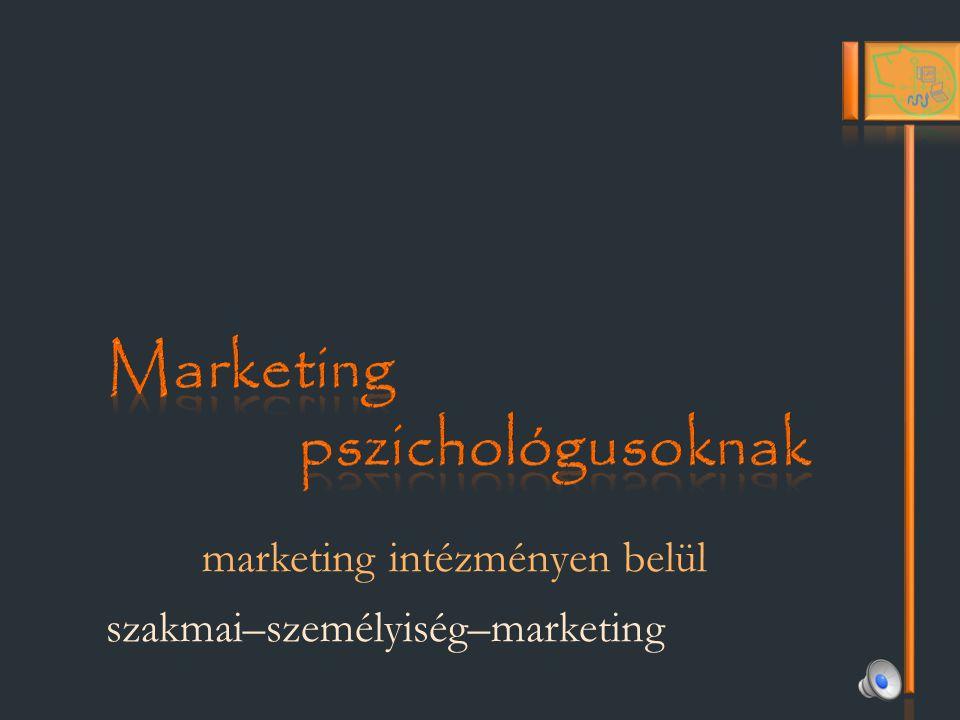 marketing intézményen belül szakmai–személyiség–marketing