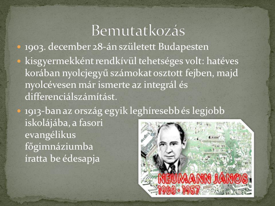  1903. december 28-án született Budapesten  kisgyermekként rendkívül tehetséges volt: hatéves korában nyolcjegyű számokat osztott fejben, majd nyolc