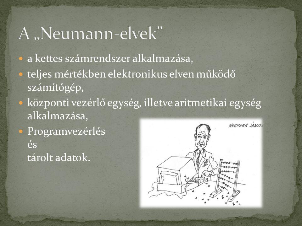  Neumann dolgozta ki és vezette be a számítógép logikai struktúráját részletesen ábrázoló szimbólumrendszert.