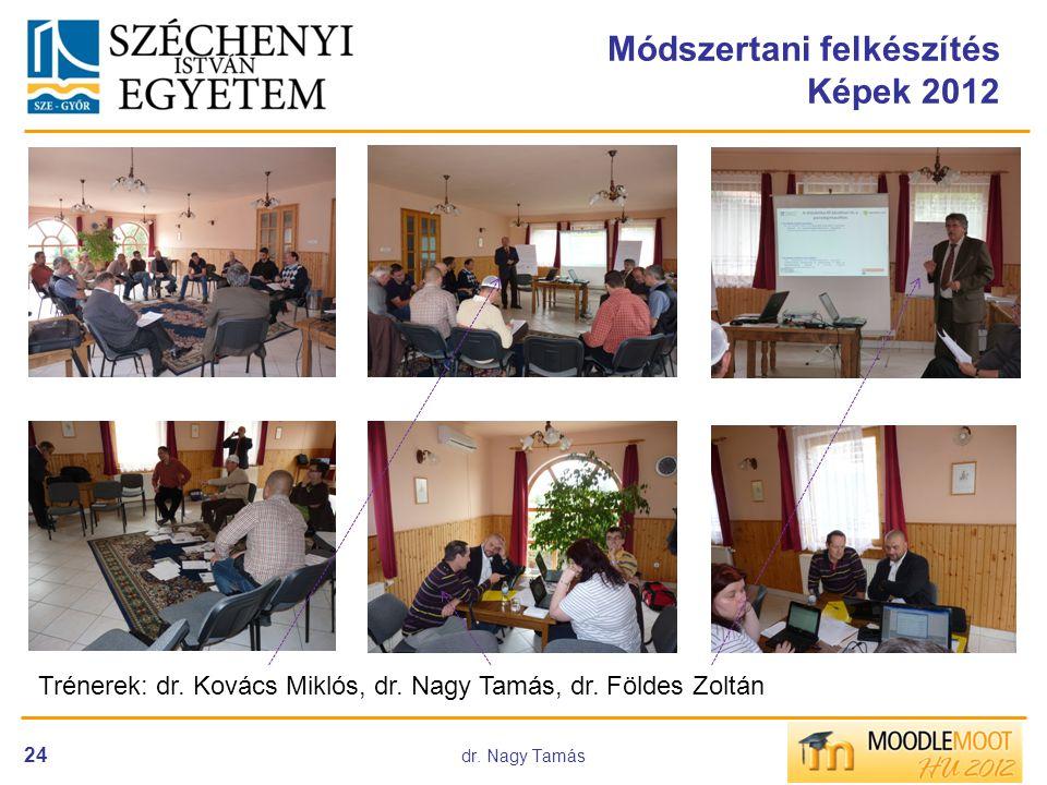 dr. Nagy Tamás 24 Módszertani felkészítés Képek 2012 Trénerek: dr. Kovács Miklós, dr. Nagy Tamás, dr. Földes Zoltán