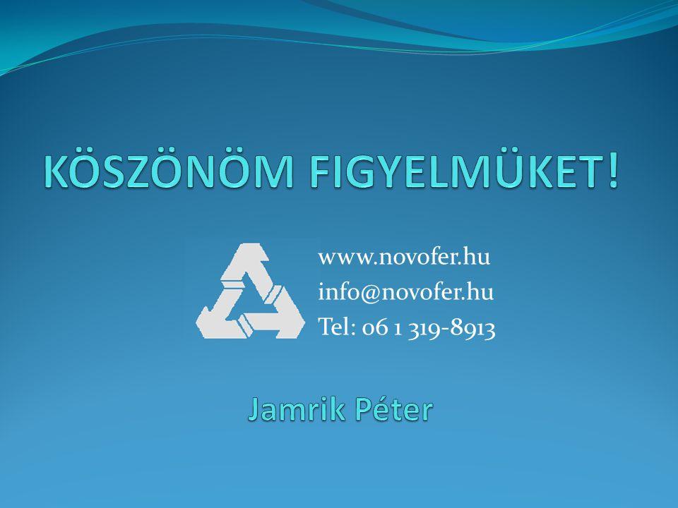 www.novofer.hu info@novofer.hu Tel: 06 1 319-8913