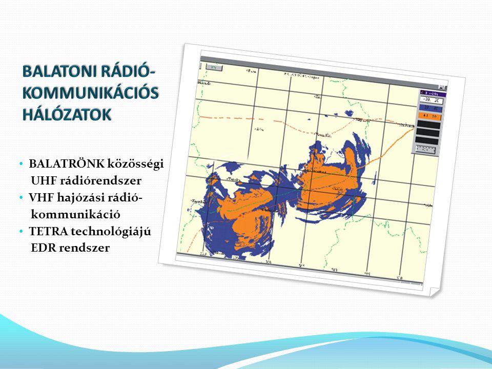 • BALATRÖNK közösségi UHF rádiórendszer • VHF hajózási rádió- kommunikáció • TETRA technológiájú EDR rendszer