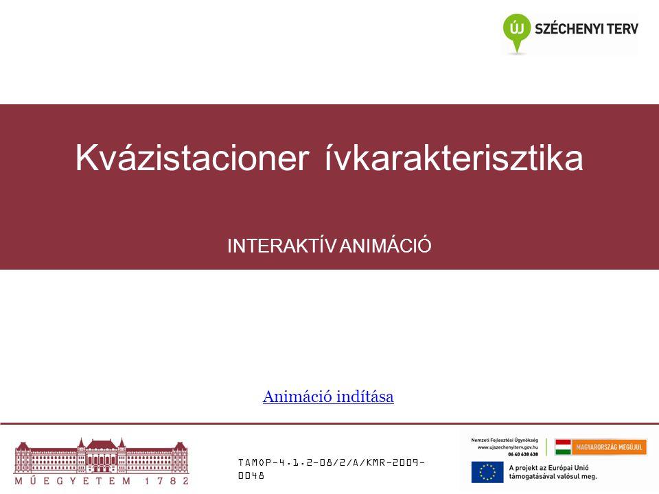 TAMOP-4.1.2-08/2/A/KMR-2009- 0048 INTERAKTÍV ANIMÁCIÓ Kvázistacioner ívkarakterisztika Animáció indítása