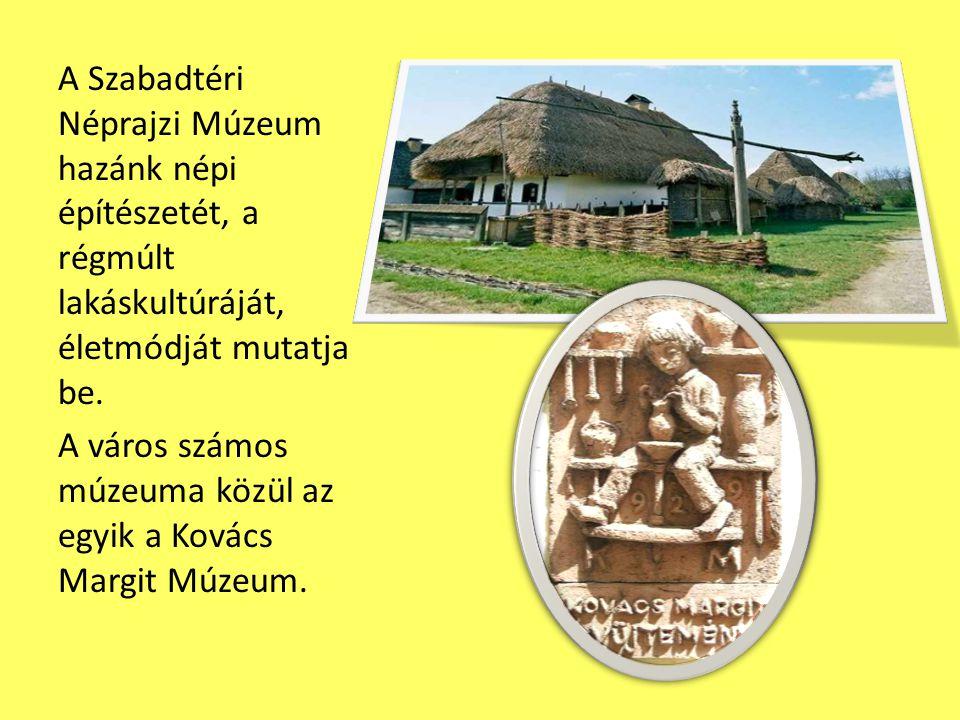 A Szabadtéri Néprajzi Múzeum hazánk népi építészetét, a régmúlt lakáskultúráját, életmódját mutatja be. A város számos múzeuma közül az egyik a Kovács