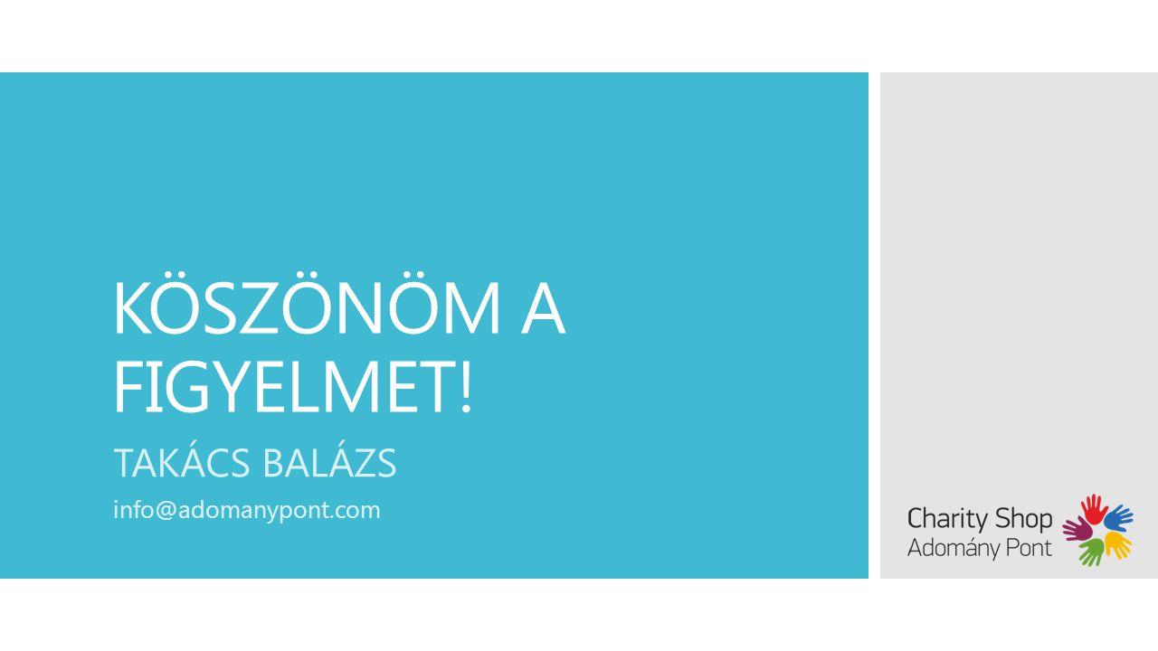 KÖSZÖNÖM A FIGYELMET! TAKÁCS BALÁZS info@adomanypont.com