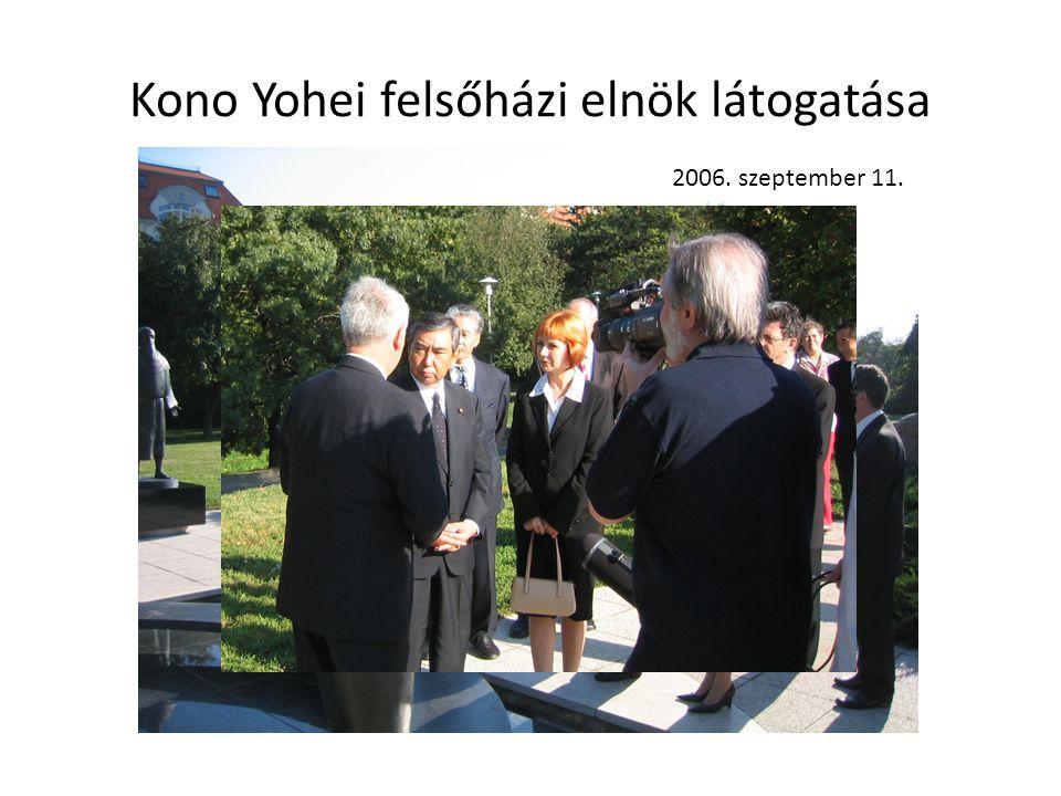 Kono Yohei felsőházi elnök látogatása 2006. szeptember 11.