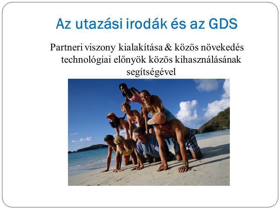 Partneri viszony kialakítása & közös növekedés technológiai előnyök közös kihasználásának segítségével Az utazási irodák és az GDS